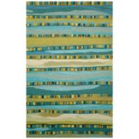 Trans-Ocean Seville Mosaic Stripe 8-Foot x 10-Foot Rug in Blue