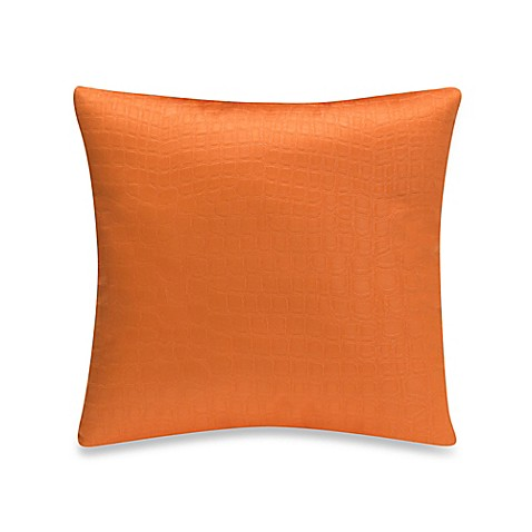 Glenna Jean Rhythm Square Throw Pillow in Orange - Bed Bath & Beyond