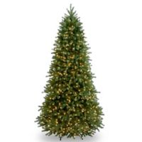 National Tree Company 7.5-Foot Jersey Fraser Fir Pre-Lit Slim Christmas Tree with Clear Lights