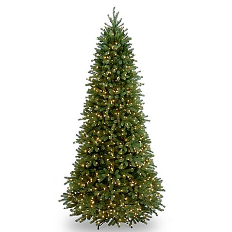 National Tree 9-Foot Jersey Fraser Fir Slim Christmas Tree ...