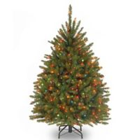 National Tree 4.5-Foot Dunhill Fir Pre-Lit Christmas Tree with Multicolor Lights