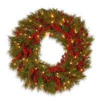 Buy Battery Operated Holiday Wreaths Bed Bath Beyond