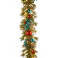 National Tree Company Decorative Collection 9-Foot Retro Garland with Warm White Lights