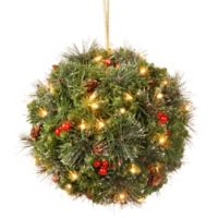 National Tree 12-Inch Crestwood Spruce Pre-Lit Kissing Ball