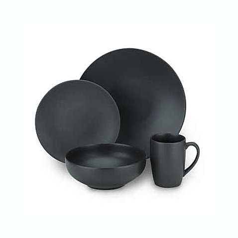 Gibson Home Paradiso Dinnerware Collection In Black Bed