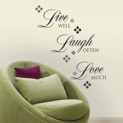 Wonderful RoomMates Live Love Laugh Quote Wall Decals