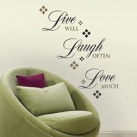 RoomMates Live Love Laugh Quote Wall Decals