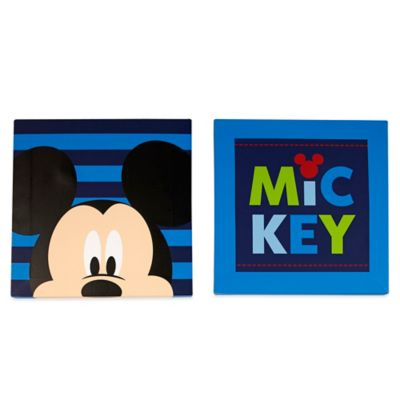 wall decor disney mickey mouse 2 piece canvas wall art set