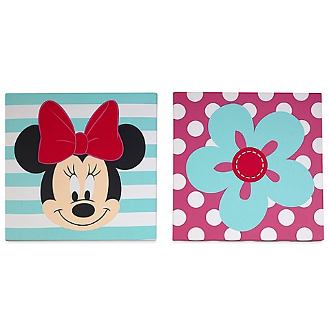 Disney 174 Minnie Mouse 2 Piece Wall Art Set Buybuy Baby