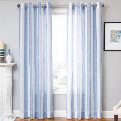 Marina 96 Inch Window Curtain Panel In Blue