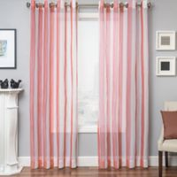 Marina 63-Inch Window Curtain Panel in Coral