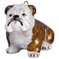 Pet Set Joy to the World Collectibles Brown and White Bulldog Christmas Ornament