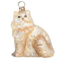 Pet Set Joy to the World Collectibles Cream Persian Cat Christmas Ornament