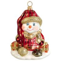 Glitterazzi Joy to the World Collectibles Czech-Inspired Snowman Christmas Ornament