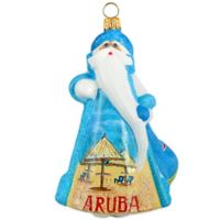Glitterazzi Joy to the World Collectibles International Santa Aruba Christmas Ornament
