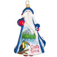 Glitterazzi Joy to the World Collectibles International Costa Rica Santa Christmas Ornament