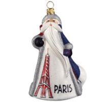Glitterazzi Joy to the World Collectibles International Santa France Christmas Ornament