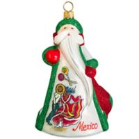 Glitterazzi Joy to the World Collectibles International Santa Mexico Christmas Ornament