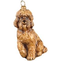 Pet Set Joy to the World Collectibles Labradoodle Christmas Ornament in Brown