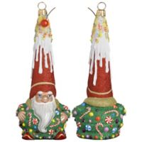 Glitterazzi Joy to the World Collectibles Gnome Sweet Gnome Santa Christmas Ornament