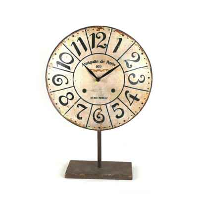 Metal Table Clock on Stand