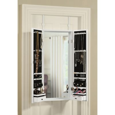 Over The Door Mirror Jewelry Organizer