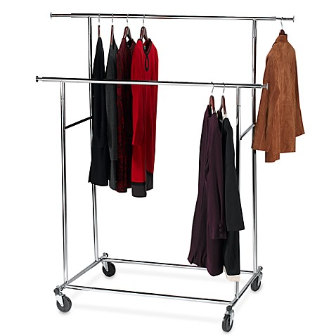 Dual Bar Adjustable Garment Rack Bed Bath Amp Beyond