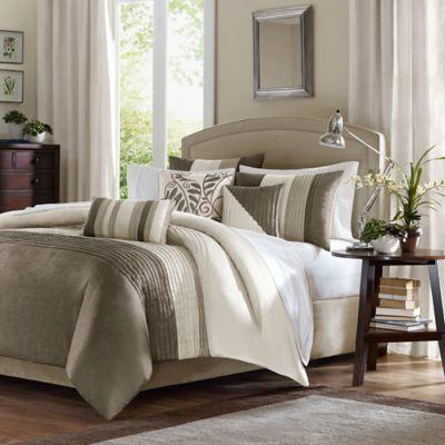 buy taupe ivory comforter sets from bed bath beyond. Black Bedroom Furniture Sets. Home Design Ideas