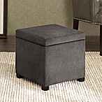 Regency Heights® Maddox Small Cube Storage Ottoman in Gunmetal