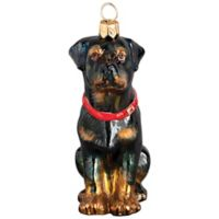 Joy to the World Collectibles Pet Set Rottweiler Christmas Ornament