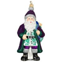 Joy to the World Collectibles Galician Santa Purple Bearded Version Christmas Ornament