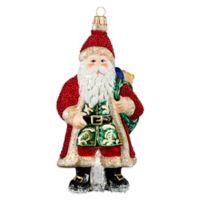 Joy to the World Collectibles Galician Santa with Presents Red Bearded Christmas Ornament