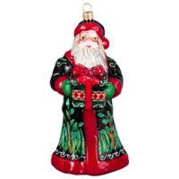 Joy to the World Collectibles Krakow Santa Ukraine Pysanky Ram Christmas Ornament