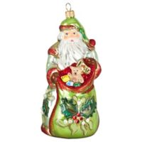 Joy to the World Collectibles Bratislava Antique Santa Mistletoe Version Ornament
