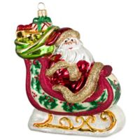 Joy to the World Collectibles Santa's Sleigh Vintage Sepia Version Christmas Ornament