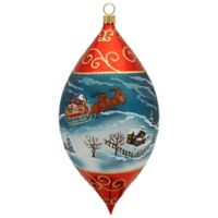 Joy to the World Collectibles Santa and His Sleigh Drop Ornament