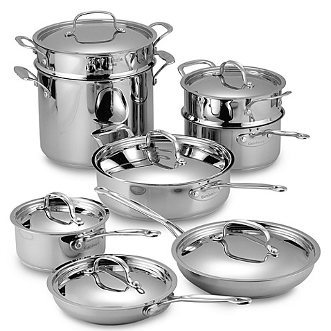 cuisinart chefu0027s classic stainless 14piece cookware set - Cuisinart Pots And Pans