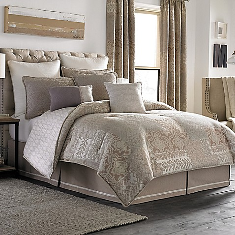 Croscill montrose reversible comforter set bed bath - Bed bath and beyond bedroom furniture ...