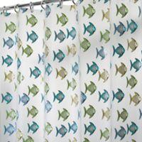 InterDesign® PEVA Fishy Shower Curtain in Blue/Green