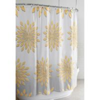 Extra-Wide Medina Floral Shower Curtain in White/Yellow