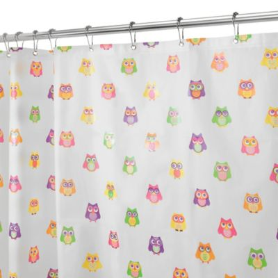 interdesign peva owlz shower curtain