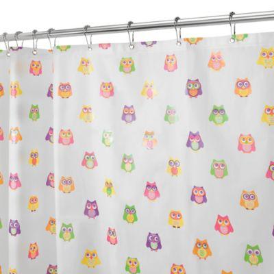 InterDesignR PEVA Owlz Shower Curtain