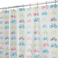 Product Image For InterDesignR PEVA Bike Shower Curtain