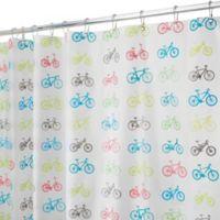 InterDesign® PEVA Bike Shower Curtain
