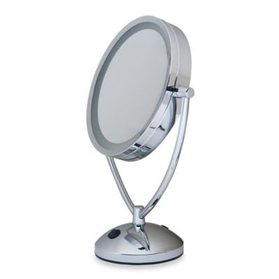 1x 10x Magnifying Lighted Chrome Vanity Mirror