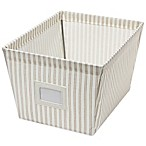 Medium Canvas Storage Bin in Stripe