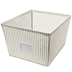 Large Canvas Storage Bin in Stripe