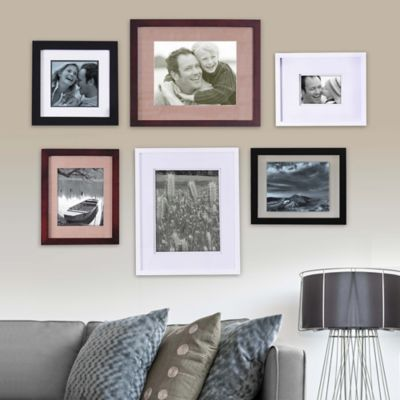 real simple 6 piece portrait frame set
