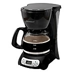 Digital 4-Cup Coffee Maker in Black