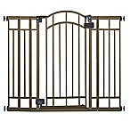 HomeSafe Multi-Use Deco Extra Tall Walk-Thru Gate in Bronze